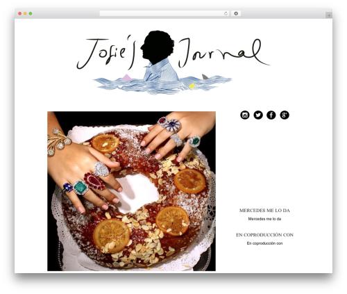 WordPress template HB JOSIE NUEVO THEME - josie.es