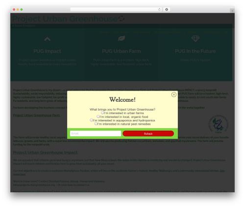 WordPress theme Athena - projecturbangreenhouse.org