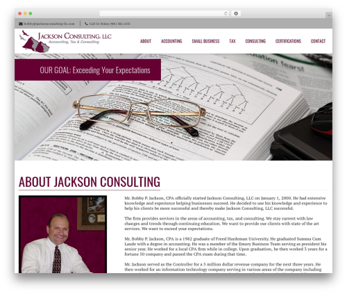 WP theme Nimva - jacksonconsulting-llc.net