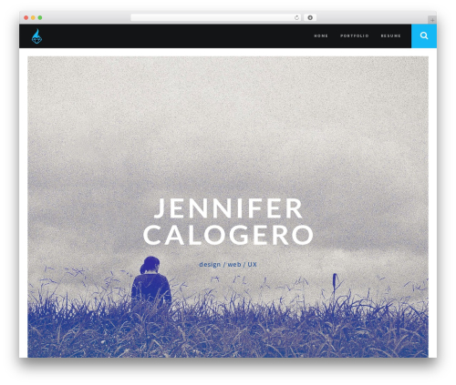 Best WordPress template RED:FOLIO - jencalo.com