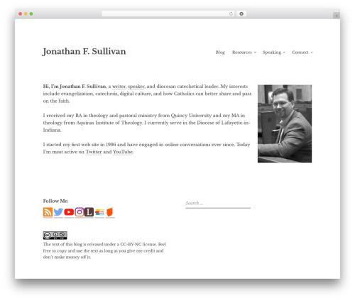 Libre 2 premium WordPress theme - jonathanfsullivan.com