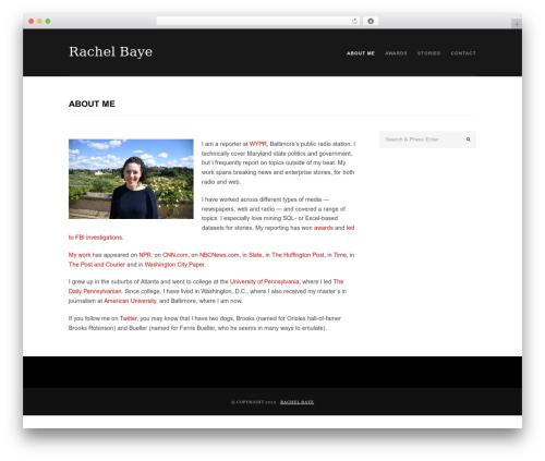 Portafolio theme WordPress - rachelbaye.com