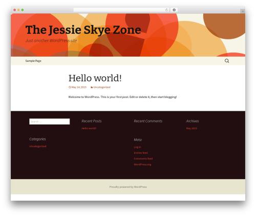 Twenty Thirteen WordPress page template - jessieskye.com