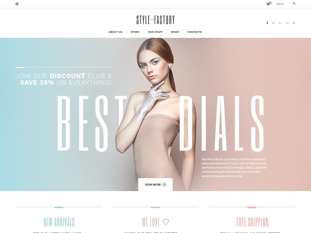 WordPress website template Stylefactory