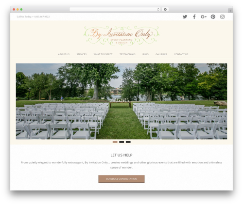 Brigsby Premium best wedding WordPress theme - murphyweddings.com