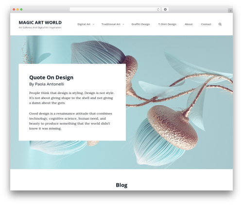 Clean Blocks WordPress template for photographers - magicartworld.com
