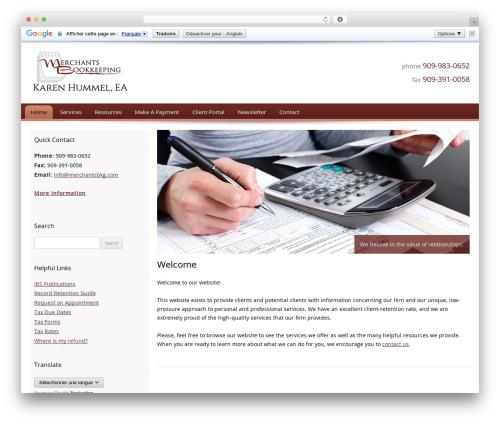 Customized business WordPress theme - merchantsbkg.com