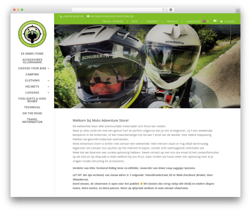 Divi best WooCommerce theme - motoadventurestore.be