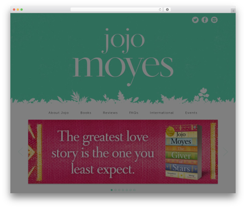 Free WordPress Twitget plugin - jojomoyes.com