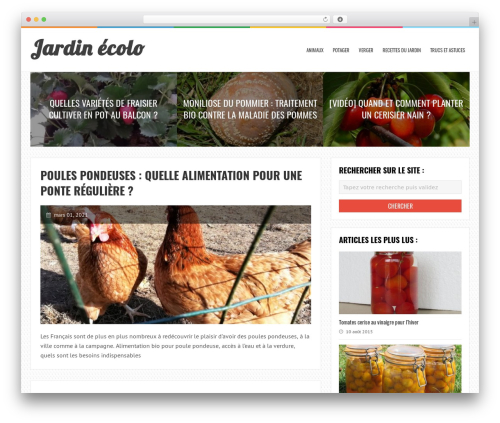 LiveBlog best WordPress theme - jardinecolo.fr