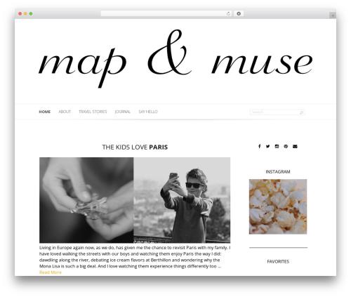 Lucid WordPress travel theme - mapandmuse.com