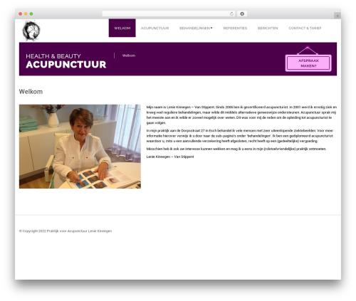 SpaSalon Pro WordPress theme - healthandbeautyacupunctuur.nl