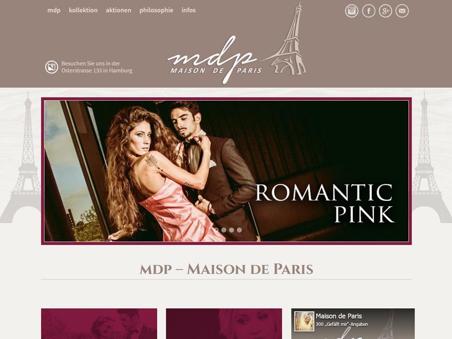Template WordPress Maison de Paris