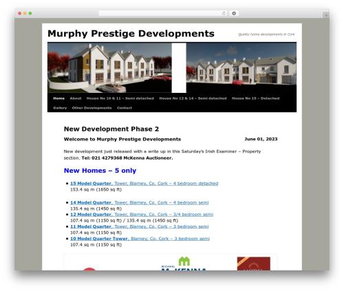 Weaver WordPress template for business - murphyprestige.ie