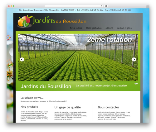 WordPress Theme Number WordPress theme - jardins-du-roussillon.com