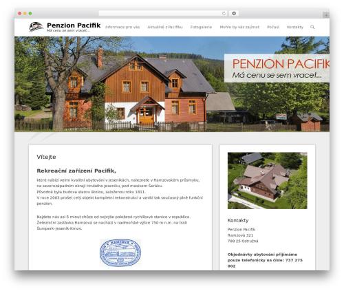 Adventurous WordPress theme design - penzionpacifik.cz