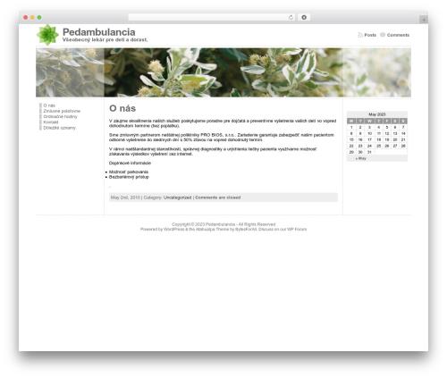 Atahualpa WordPress page template - pedambulancia.sk