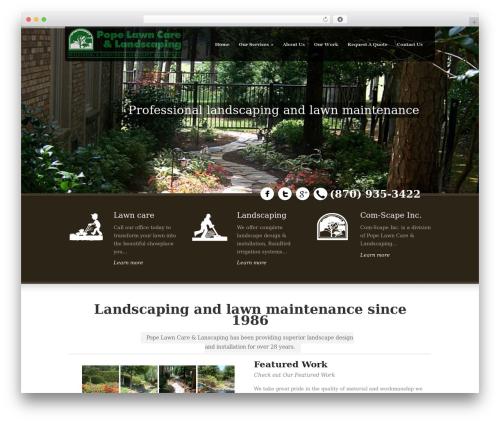 Best WordPress template Green Earth - popelawncare.com