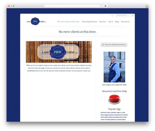 Chameleon business WordPress theme - pbwlawfirm.com