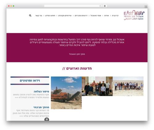 Scoop WordPress theme - eastnegev.org