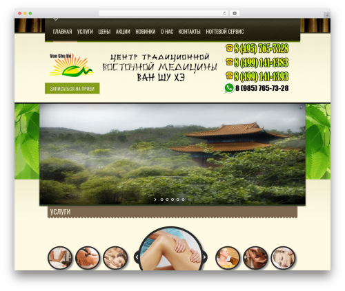 Spa Treats WordPress website template - medcentr-vanshuhe.ru