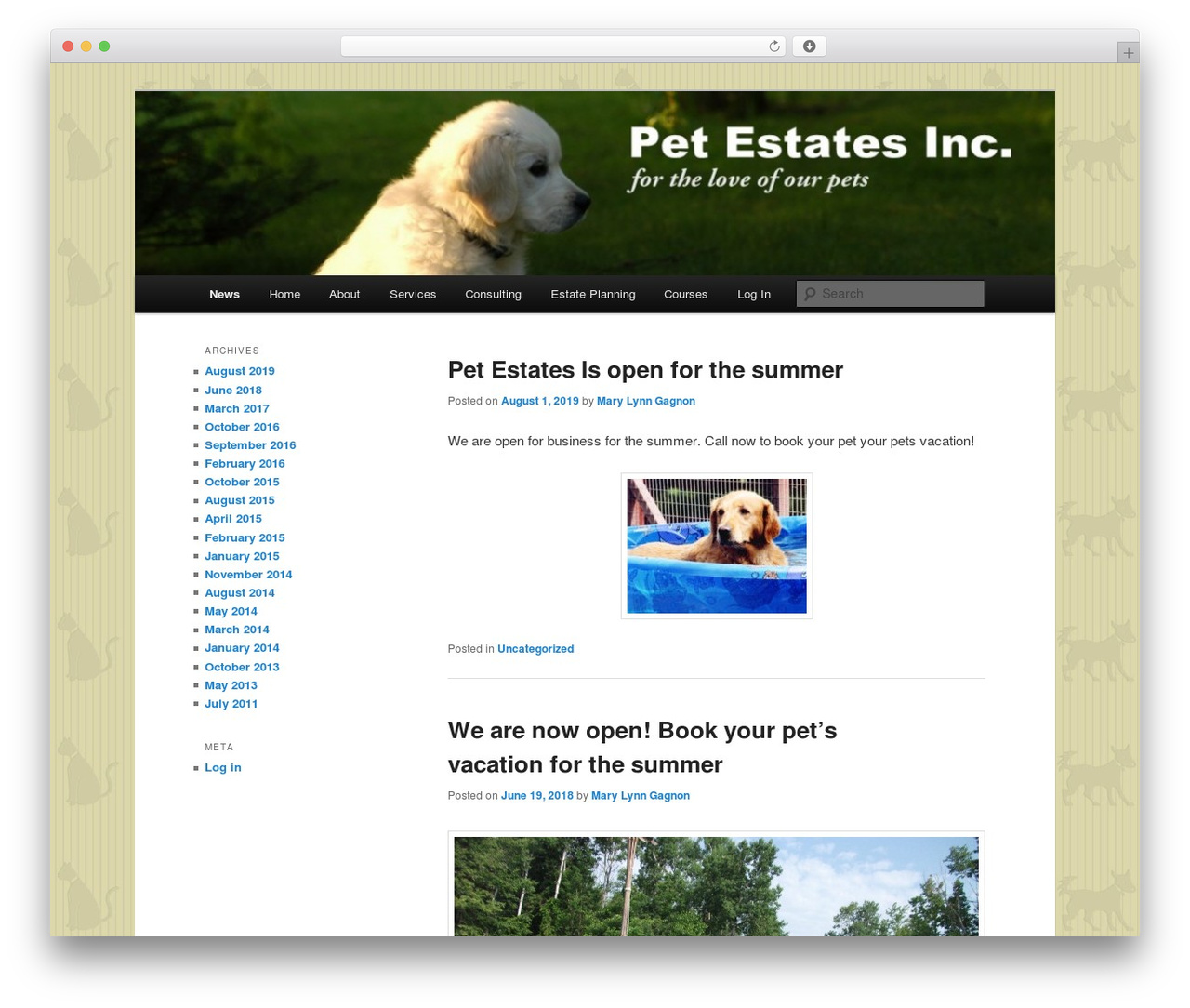 Twenty Eleven free WP theme - petestates.com