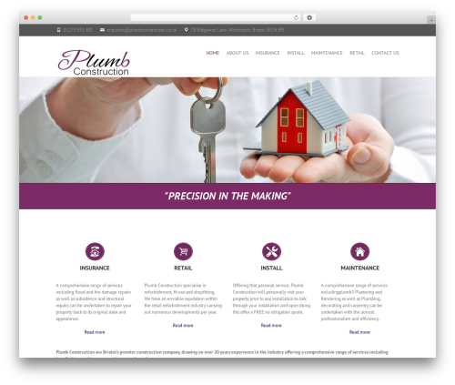WordPress website template Interface - plumbconstruction.co.uk
