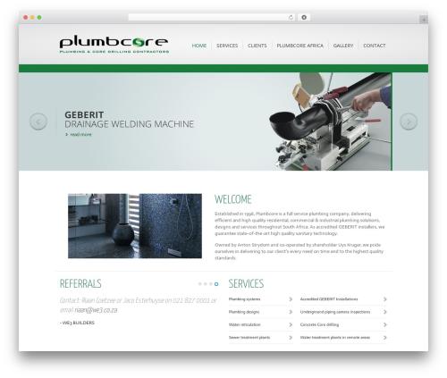 Best WordPress theme Inspire - plumbcore.co.za