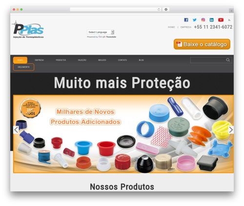 cherry template WordPress - pplas.com.br
