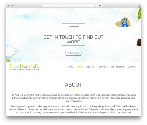 Floyd WordPress theme - patandthebeanstalk.com