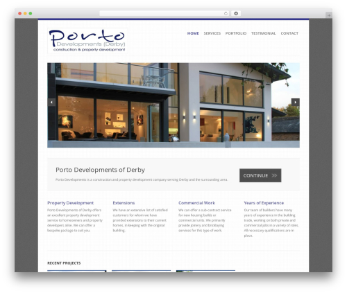 Revolution WordPress theme design - portodevelopments.co.uk