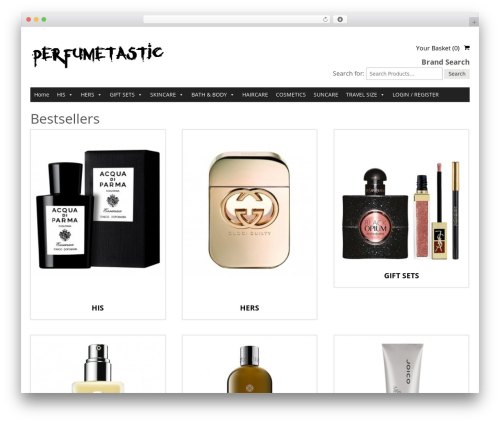 SmartShop WordPress theme design - perfumetastic.com