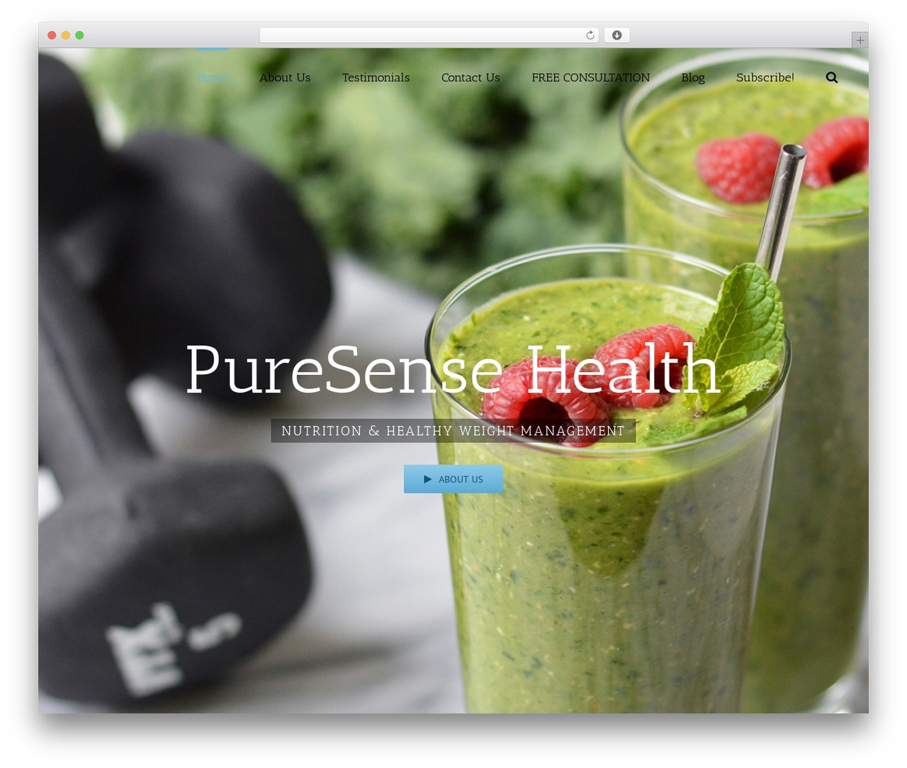 Template WordPress Avada - puresensehealth.com