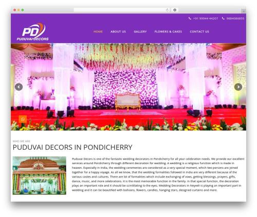 TheBuilt best wedding WordPress theme - puduvaidecors.com