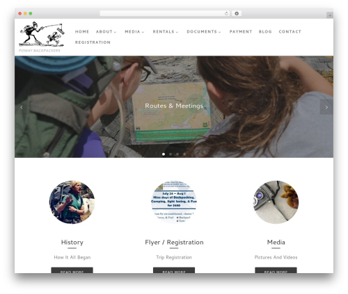 WP template Customizr - powaybackpackers.com