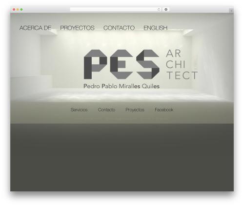 BLANK Theme premium WordPress theme - pesarchitect.com