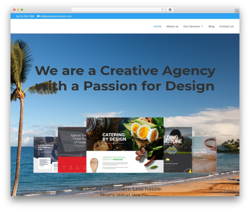 Divi business WordPress theme - poweryourmarkets.com