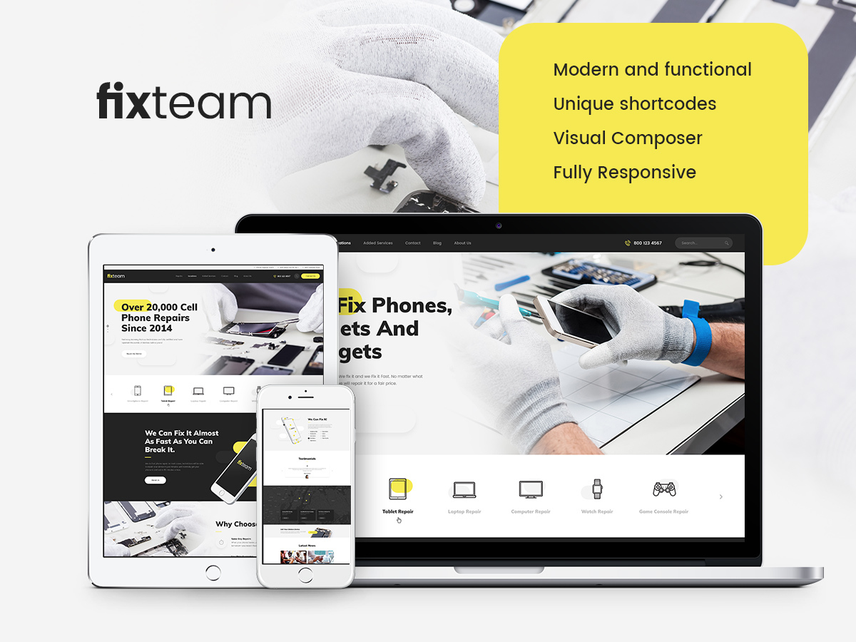 FixTeam WordPress blog template