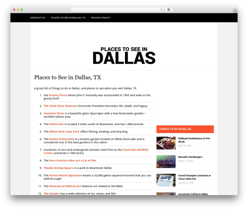 Hickory WordPress theme - placestoseeindallas.com