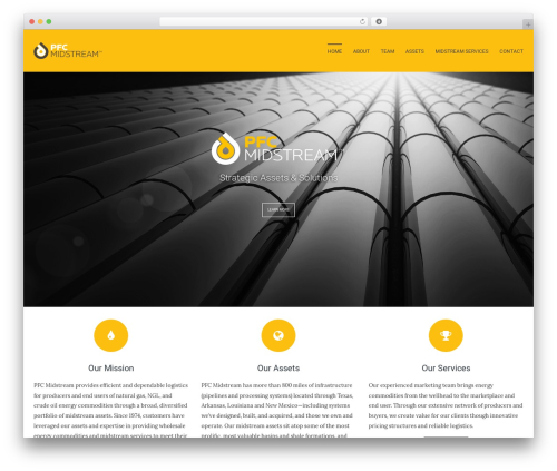 Leafage WordPress theme - pfcmidstream.com