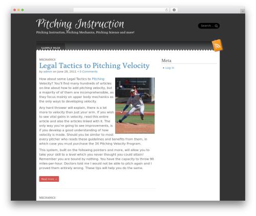 Snowblind template WordPress free - pitchinginstruction.net