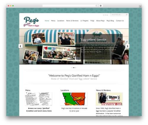 WordPress theme Chameleon - pegsglorifiedhamneggs.com