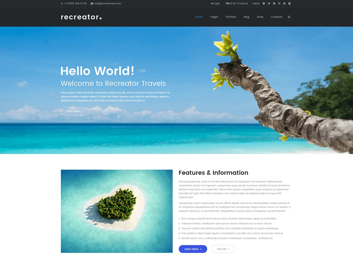 WordPress theme Recreator