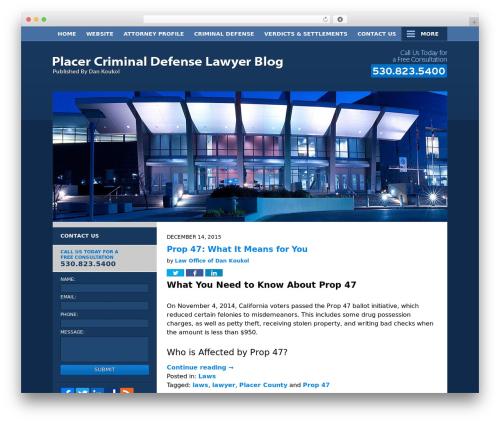 WordPress theme Willow-Responsive - placercriminaldefenselawyerblog.com