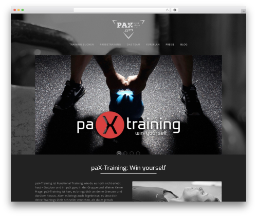 Workout WordPress theme - paxtraining.de