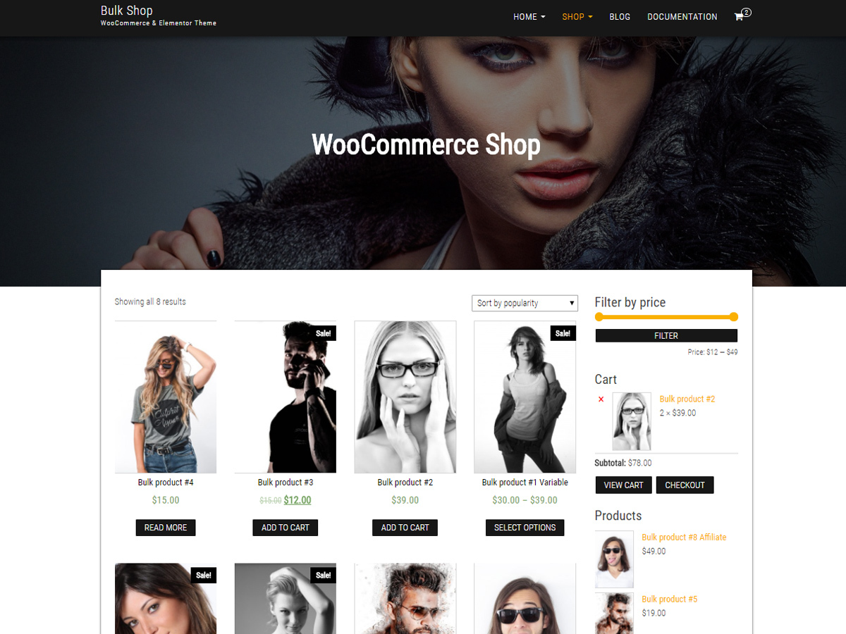 Bulk Shop WordPress ecommerce template