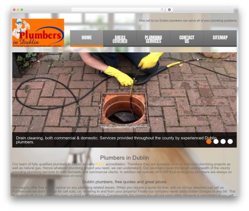cherry WordPress shopping theme - plumbers-in-dublin.ie