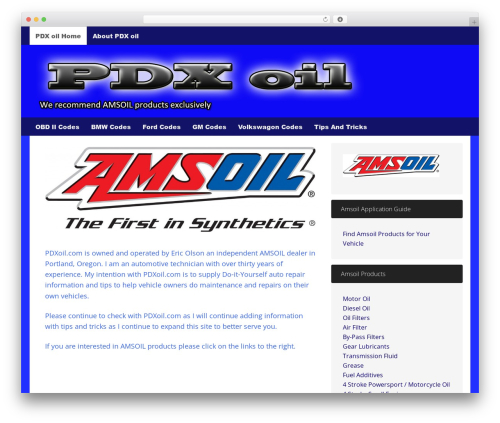 Dynamik-Gen WordPress page template - pdxoil.com