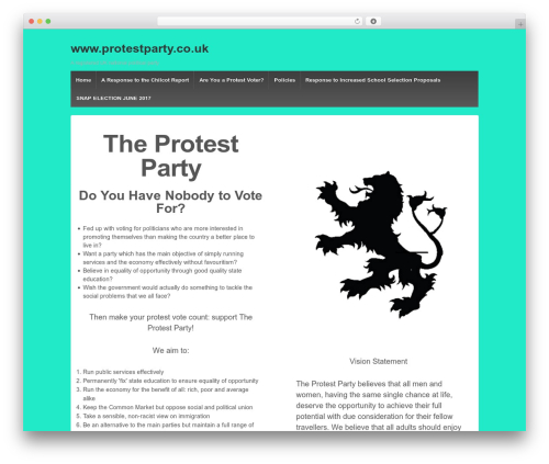 Responsive best WordPress template - protestparty.co.uk