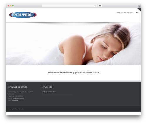 Template WordPress Avada - poltex.es